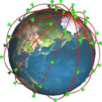 図: 地球全体が通話エリア