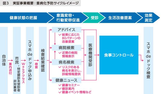 図3 実証事業概要: 重病化予防サイクルイメージ