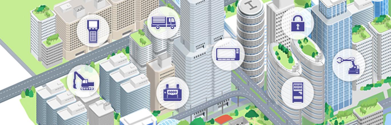 KDDIが支えるM2M 新たなマシンコミュニケーションをネットワークで実現 産業機械、車載機器など広範囲な製品に、「通信モジュール」を組み込むことで、製品の稼働状況、状態監視、遠隔操作がかのうになります。業務の効率化や新規ビジネス創出をサポートします。