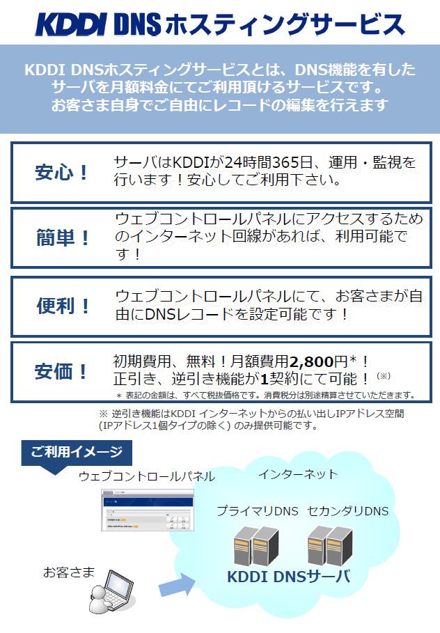 KDDI DNS ホスティングサービス