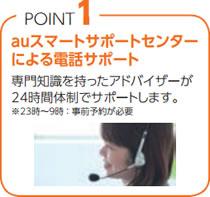 POINT 1 auスマートサポートセンターによる電話サポート