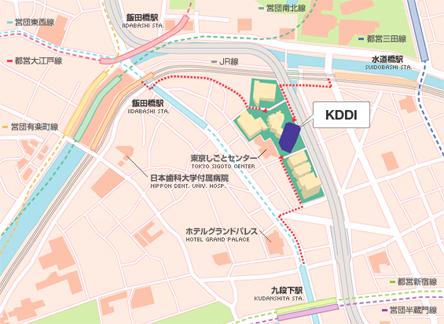 KDDIへのアクセス(地図)