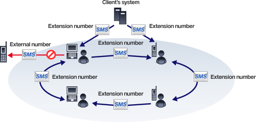 Figure: SMS via extension