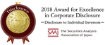 2018 Awards for Excellence in Corporate Disclosure Disclosure to Individual Investors