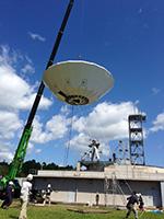 2015年9月 アンテナ建設工事 (主反射鏡の吊り上げ)