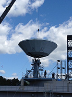 2015年9月 アンテナ建設工事 (主反射鏡の取付作業)