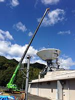 2015年9月 アンテナ建設工事 (主反射鏡の取付後)