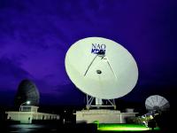電波望遠鏡ライトアップ