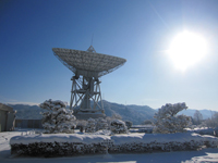 雪と太陽とY2アンテナ