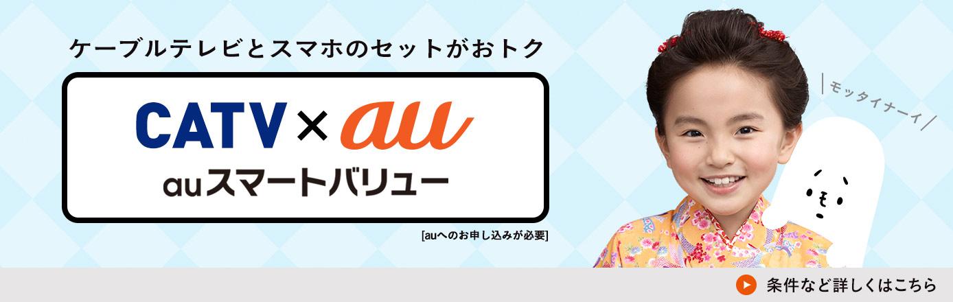 ケーブルプラスとスマホのセットがおトク CATV×au auスマトバリュー [auへのお申し込みが必要] 条件など詳しくはこちら